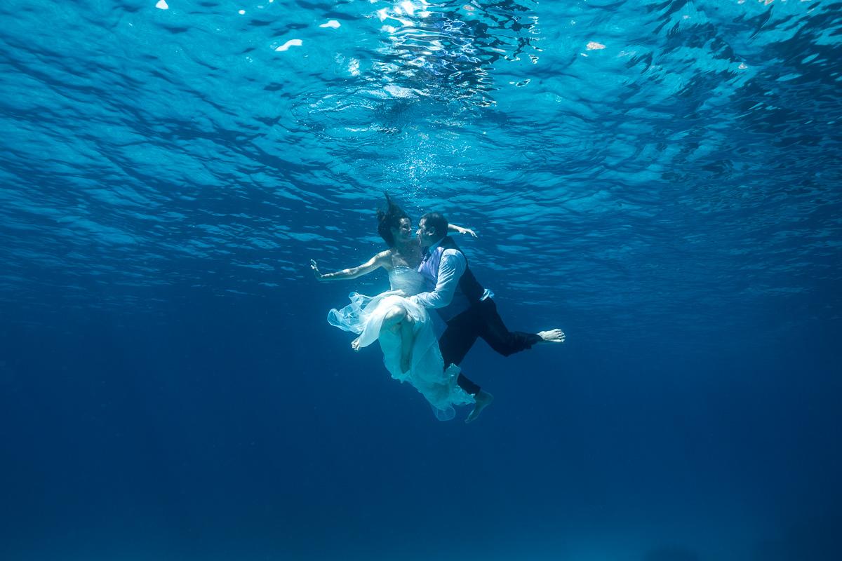 Mallorca Underwater Trash the Dress Photography