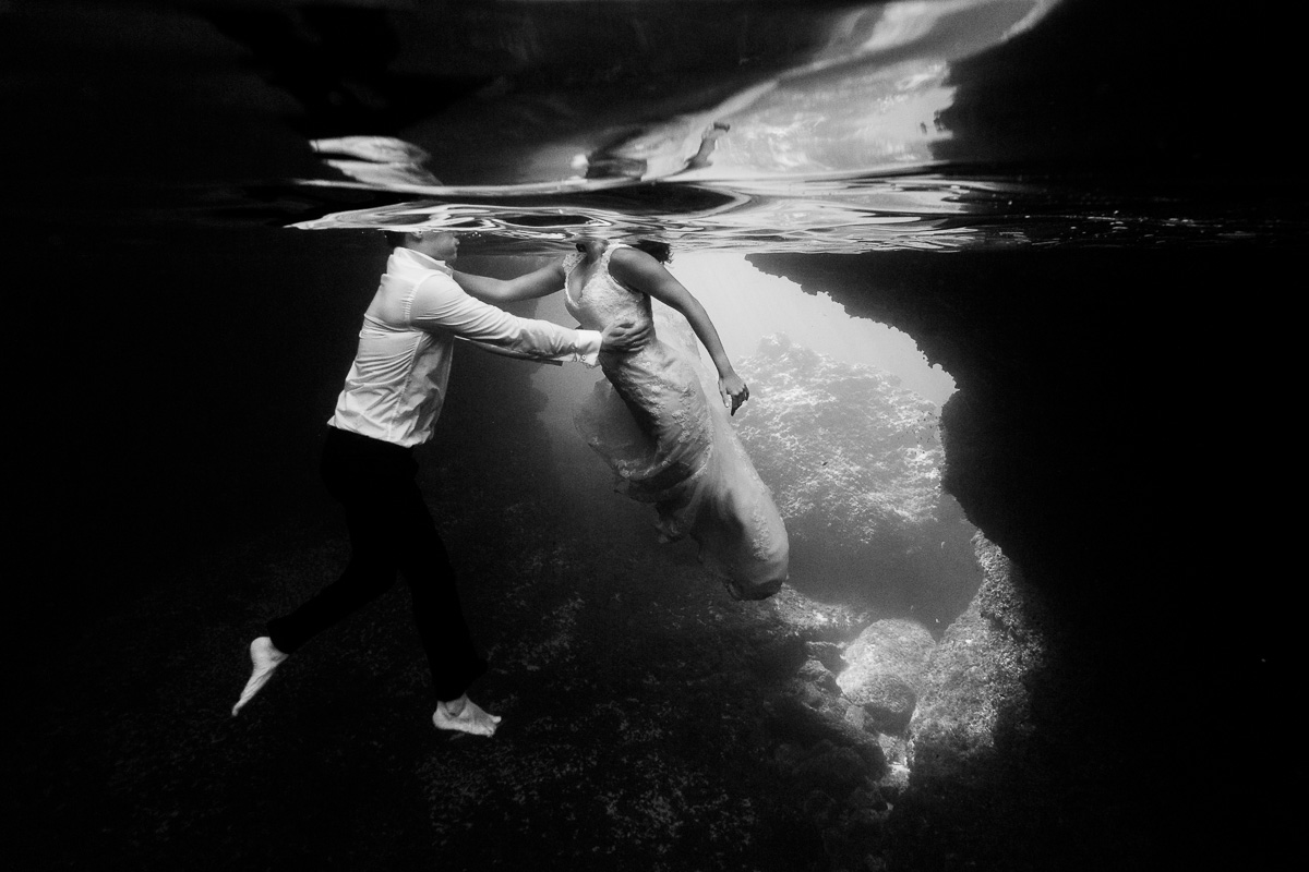 Fotos de novia bajo el agua