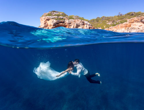 Postboda bajo el agua: de Madrid a Mallorca