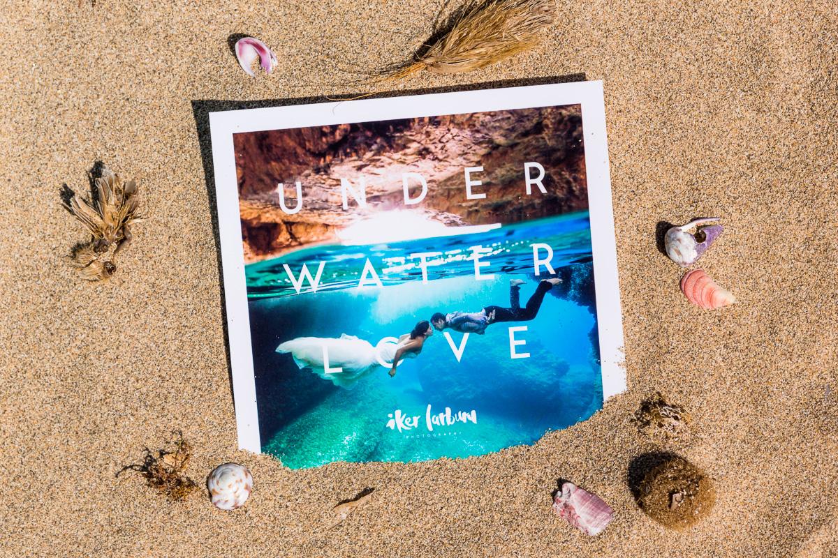 Regalo original de boda: sesión de fotos bajo el agua