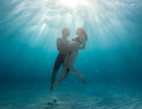 Sesión de fotografía de embarazo en el mar, Mallorca