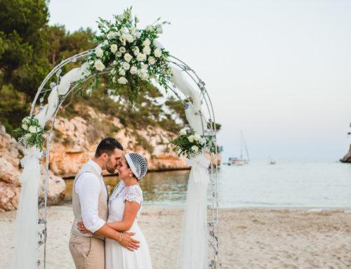 Boda íntima en la playa, Mallorca