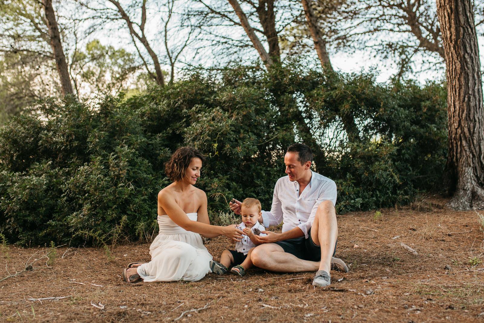 Fotos de familia en el bosque Mallorca